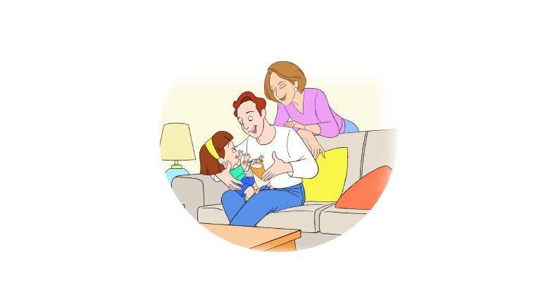 Los padres de julieta la tranquilizan y le explican que le ha pasado con su rabieta